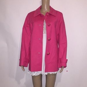 Jones New York Signature button front jacket Sz L